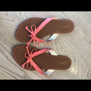 Loft flip flop sandals